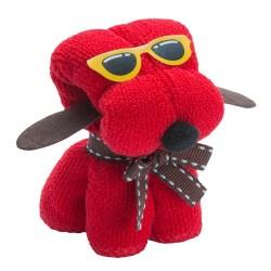 Simpatico Perrito de Toalla con gafas y lazo