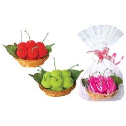 Dulce Cerezas en cestita y bolsita de regalo