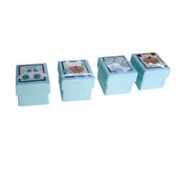 Set 24 cajitas baby azul surtidas