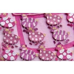 Set 15 cajitas rosas cebras