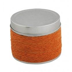 Vela con fragancia de naranja en caja de estaño