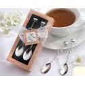 Set cucharas de café cromadas en plata
