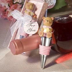 Precioso Tapón de Vino Osito Rosa