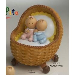 Figura pastel hucha Pit&Pita gemelos