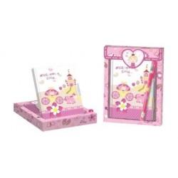 """Set de regalo, diario y boligrafo """"Princesa"""""""