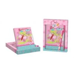 """Set de regalo, diario y boligrafo """"Butterfly"""""""