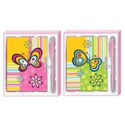"""Set de regalo, diario y boligrafo """"Flower Color"""""""